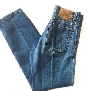 Levi 512 slim cut straight leg jeans